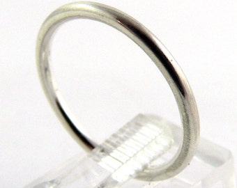 Smooth Round Sterling Silver Stacking Ring