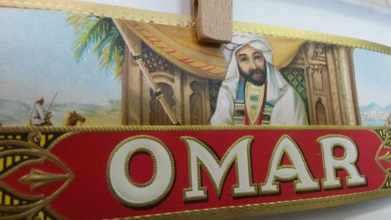 Unused Vintage Cigar Label - Omar Brand - Arab Man wearing a Turban