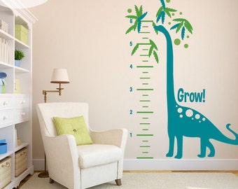Growing Dino Measurement Chart - Vinyl Wall Decals