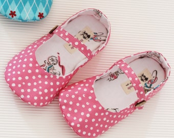 no 256 Cassie Girl's Mary Janes PDF Pattern(Toddler-Girl Size (Total 12 Size))