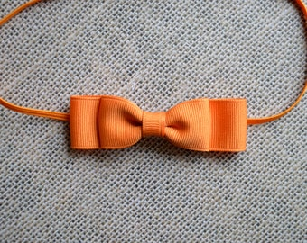 Orange Baby Bow Headband. Orange Bow Headband. Hair Bow Headband. Baby Hair Accessories. Baby Girls Hair Accessories. Pumpkin Pie Orange
