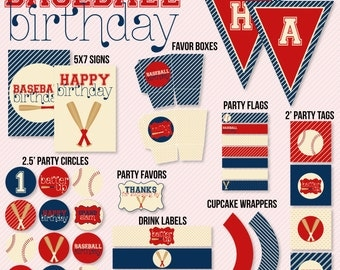 Baseball Party PRINTABLE Instant Download Birthday by Love The Day