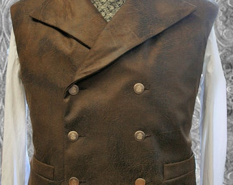 XL Steampunk  Waistcoat  Vest Sewing Pattern .PDF Instand download style 48 - to 58 chest