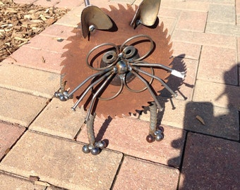 Cat - Recycled Garden Art Sculpture
