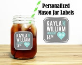 Custom Mason Jar Labels Wedding Favors Stickers Thank You Rehearsal Dinner Reception Summer Outdoor Country Wedding Party Gifts MJ-1001
