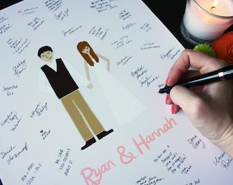 12x16 Guestbook Alternative Print : Custom Wedding Invitation Add-on