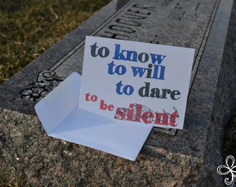 To Know, To Will, To Dare... Greeting Card