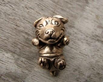 Staffordshire bullterrier puppy dog necklace