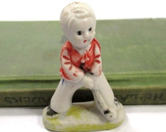Bisque Boy Golfer Doll Figurine, Frozen Charlotte Style, Father's Day, Gift for Guy