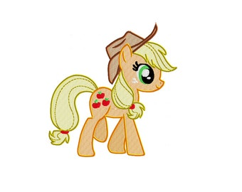 PES & MORE Files: Trotting Applejack - Embroidery Machine Design File