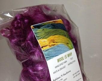 MOHAIR Raspberry SHINE curly locks   .5 OZ