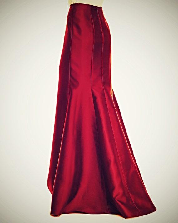 floor length maxi satin skirt paneled skirt mermaid