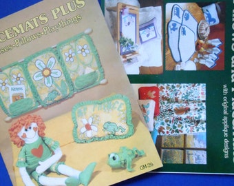 Pillows and Placemats and Placemats Plus, Two Vintage Craft Books