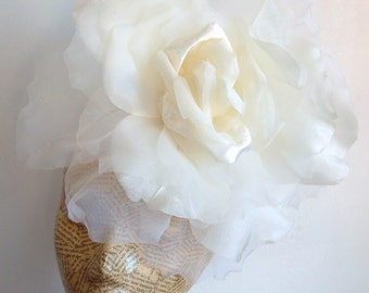 SALE Extra Large Rose -  Ivory WAS 50.00 AND 40.00