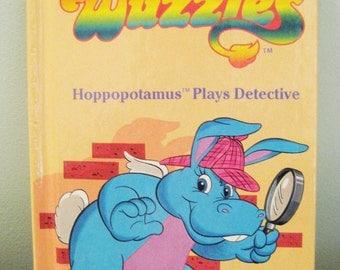 Vintage Wuzzles Book Hoppopotamus Plays Detective