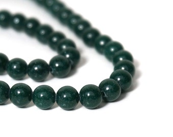 6mm Mountain Jade, Round Gemstone beads, Dark Green Candy Jade, Full & Half Strands Available  (904S)