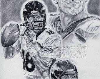 Peyton Manning of Denver Broncos Art poster