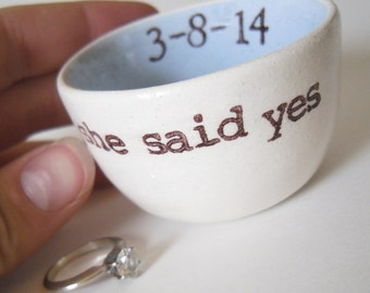 CUSTOM ENGAGEMENT GIFT idea wedding ring pillow table decoration party favors bridesmaid and groomsmen gifts personalized names date phrases