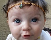Newborn/Baby to Adult Head Chain-using a single Iridescent teardrop crystal