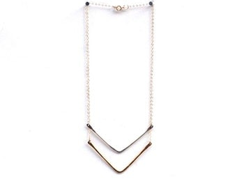 WishBone Necklace in Gold