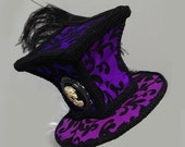 Gothic Hat Mad Hatter Corset Back Skull Cameo Ostrich Feathered PRIVATE SALE  M.J.T Only