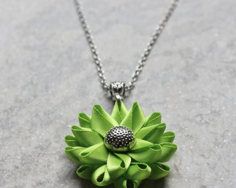 Lime Green Necklace, Apple Green Necklace, Lime Necklace, Lime Green Jewelry, Apple Green Wedding, Bright Lime Jewelry, Handmade Necklaces