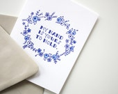 Letterpress Card - My Hand is Yours to Hold