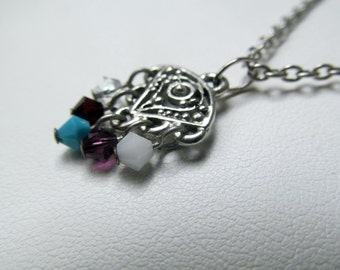 Family Birthstone Necklace with 5 Stones