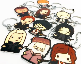 Wizard Harry and Friends - Key Chains and Bag Charms