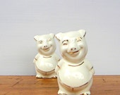 RESERVE LISTING Vintage Pigs Salt and Pepper Shakers