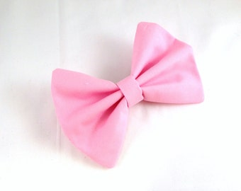 Hair Bow Vintage Inspired Pink Hair Bow with Aligator Clip Rockabilly Pin up Teen WomanG