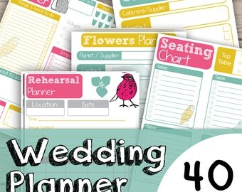 Wedding Planner Printable - Wedding Planner Download - Bride Planner - Bridesmaid Planner Printable - Instant Wedding Planner Printable