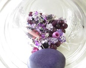 Upcycled Supplies - Bead Mixed Lot - Perfect Purples