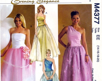 McCall's Evening Elegance M4377 Misses' Dresses Sewing Pattern - Uncut - Size 14, 16, 18, 20