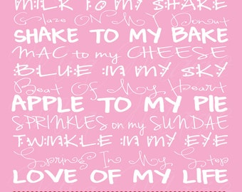 Digital Art Print - You Are The Peanut To My Butter - Subway Art Digital Print Typography, 8 x 10, Customizable