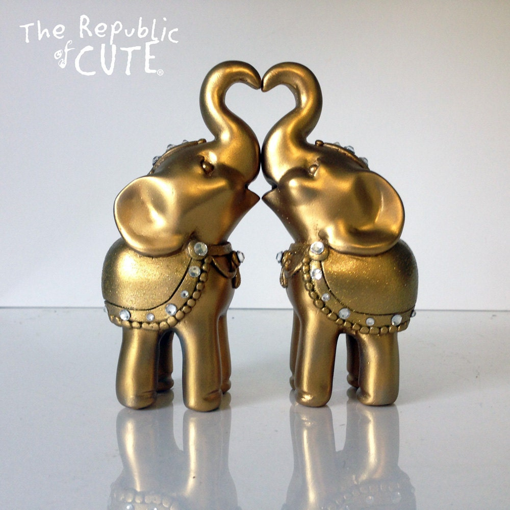 gold elephant wedding cake topper indian elephant wedding cake topper set gold by republicofcute 14752