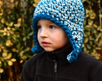 Crochet Hat Pattern: Earflap Hats for all Sizes INSTANT DOWNLOAD