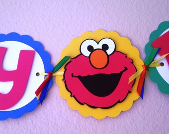 Elmo Party Banner
