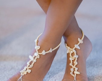 freshwater pearl child and infant barefoot sandals, toddler barefoot sandal, Happi Feet, children baby shoes, The JourneyRose HF107