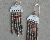 Copper Beaded Earrings / Czech / Ethiopian