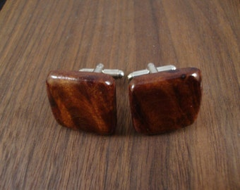 Wooden Men's Cuff Links - Redwood Burl Wood - Wedding, anniversary, any Special Occasion