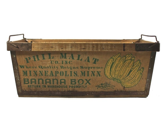 Vintage Banana Crate Vintage Banana Box