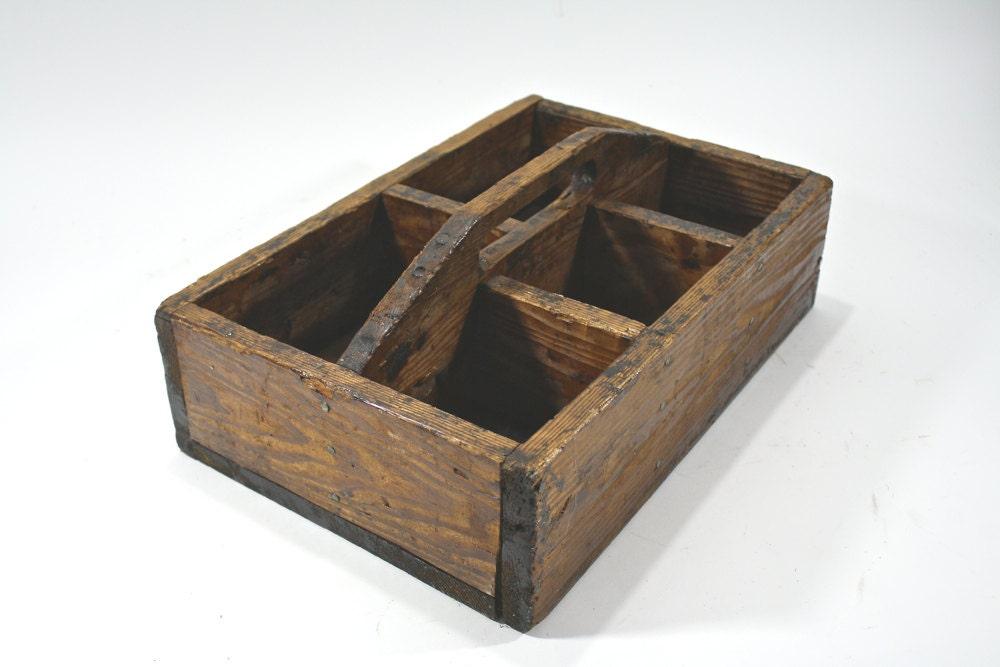 Vintage Wood Tote Vintage Wooden Caddy Vintage Wood Caddy