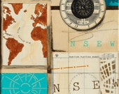 Ridge, mixed-media/acrylic on canvas, map art
