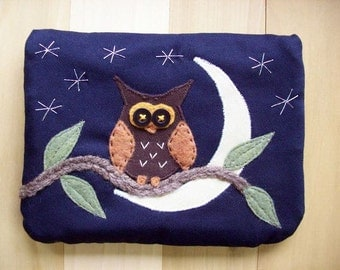 Crescent Moon Owl, Large Pouch