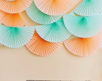 Wedding Garland  ...  tissue paper bunting / wedding decoration / photography backdrop / birthday party decor / baby shower decor