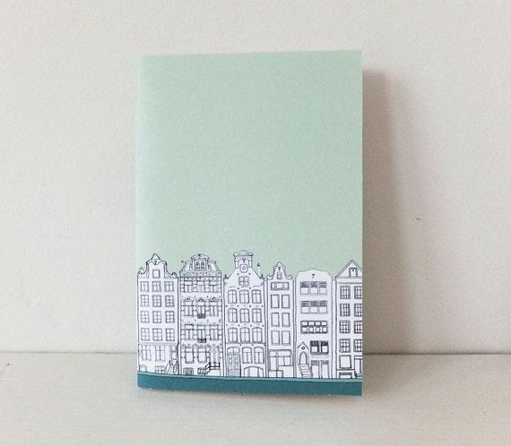 Amsterdam journal - mint green notebook - A5 notebook