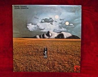 JOHN LENNON - Mind Games - 1973 Vintage Vinyl Record Album