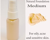 MEDIUM All Natural Liquid Foundation - For Acne and Sensitive Skin Types