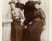 "Vintage Cabinet Card Photo ""Victorian Women"", Photography, Paper Ephemera, Antique, Snapshot, Old Photo, Collectibles"